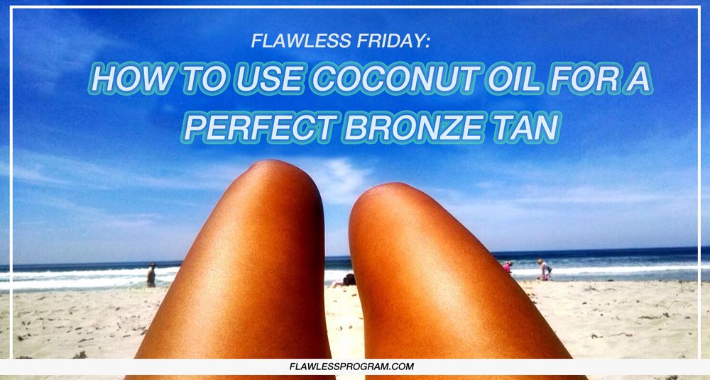 tanning with coconut oil